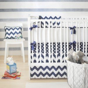 Chevron Crib Bedding - New Arrivals - Navy