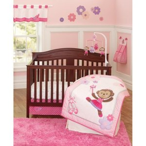Carter's Baby Bedding For Girls - Ballerina Monkey