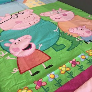 Pink Peppa Pig Duvet Cover & 1 Pillowcase (available with duvet)