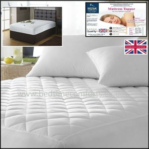 """2' 6"""" x Shorty Bed Small Single """"QUILTED"""" Fitted Mattress Topper (Boxed Skirt)"""