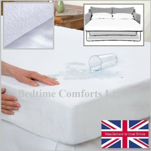 Sofa Bed / Pull Out Bed Waterproof Mattress Protector (with boxed skirt) Various Size's