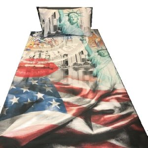 New York America Duvet Cover & 1 Pillowcase (available with duvet)