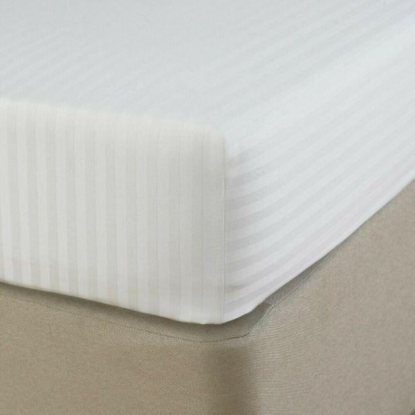 Electric Bed Satin Stripe Hotel Quality Fitted Sheet Various Sizes