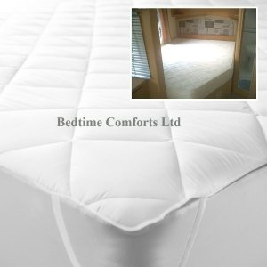 "Caravan / Motorhome ""QUILTED"" CORNER Mattress TOPPER (Elasticated) RH"
