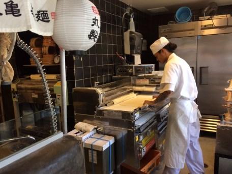 Preparing Fresh Udon Noodles