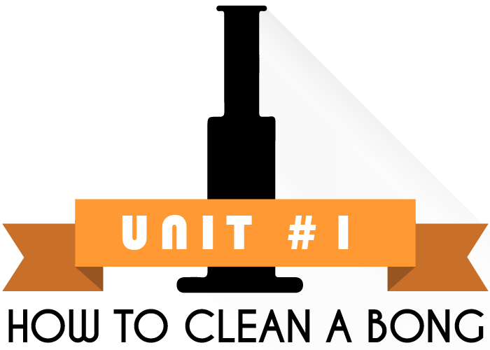 Unit 1 of How to clean A Bong- How to Clean a Bong