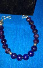 Amethyst and Lapis Lazuli matching set (4)