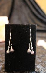 grey pearl double drop earrings handmade by beejewelled (2)