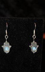 aquamarine hamsa sterling silver earrings handmade by beejewelled (5)