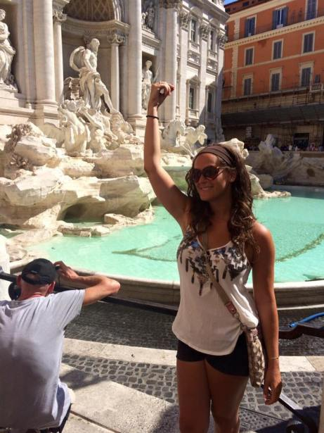 One Day in Rome- The Trevi Fountain