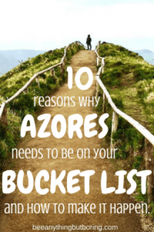 Pinterest call to action for the Azores Itinerary