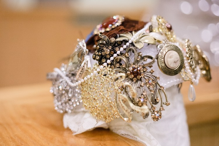 vintage bridal brochette bouquet