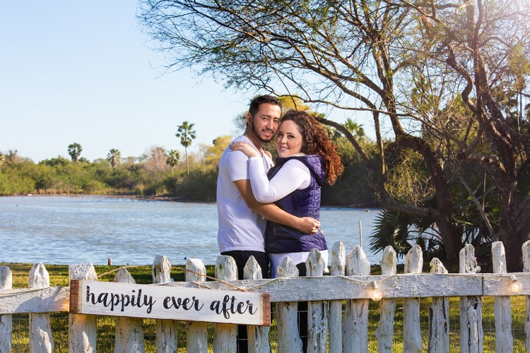 engaged couple happy ever after prop