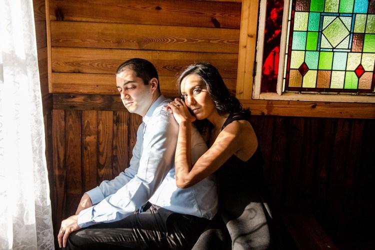 indian couple engagement portraits