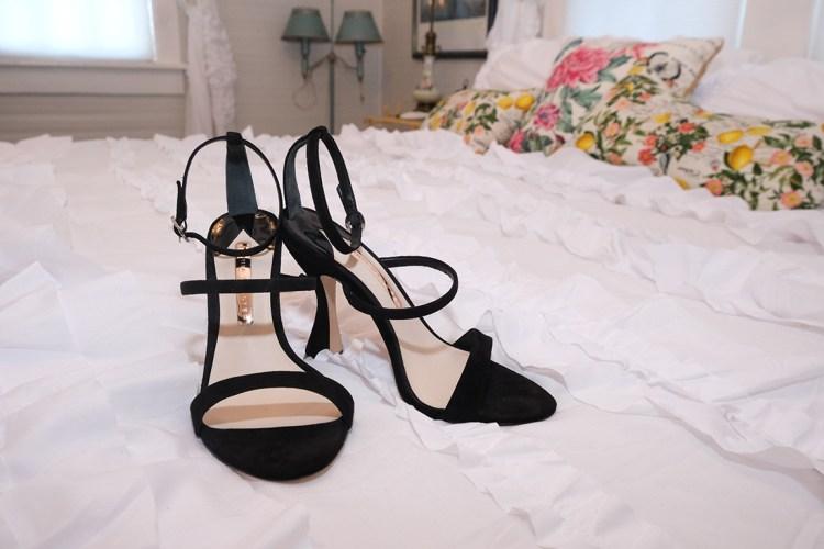 black strap wedding days sandals the bryan house