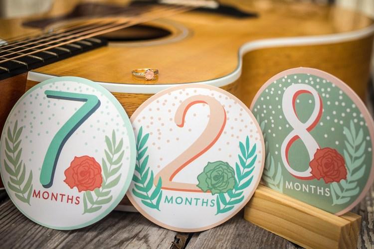 guitar engagement ring wedding date photo