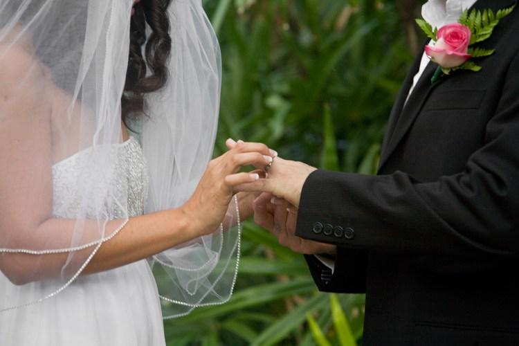 ring exchange backyard wedding mcallen