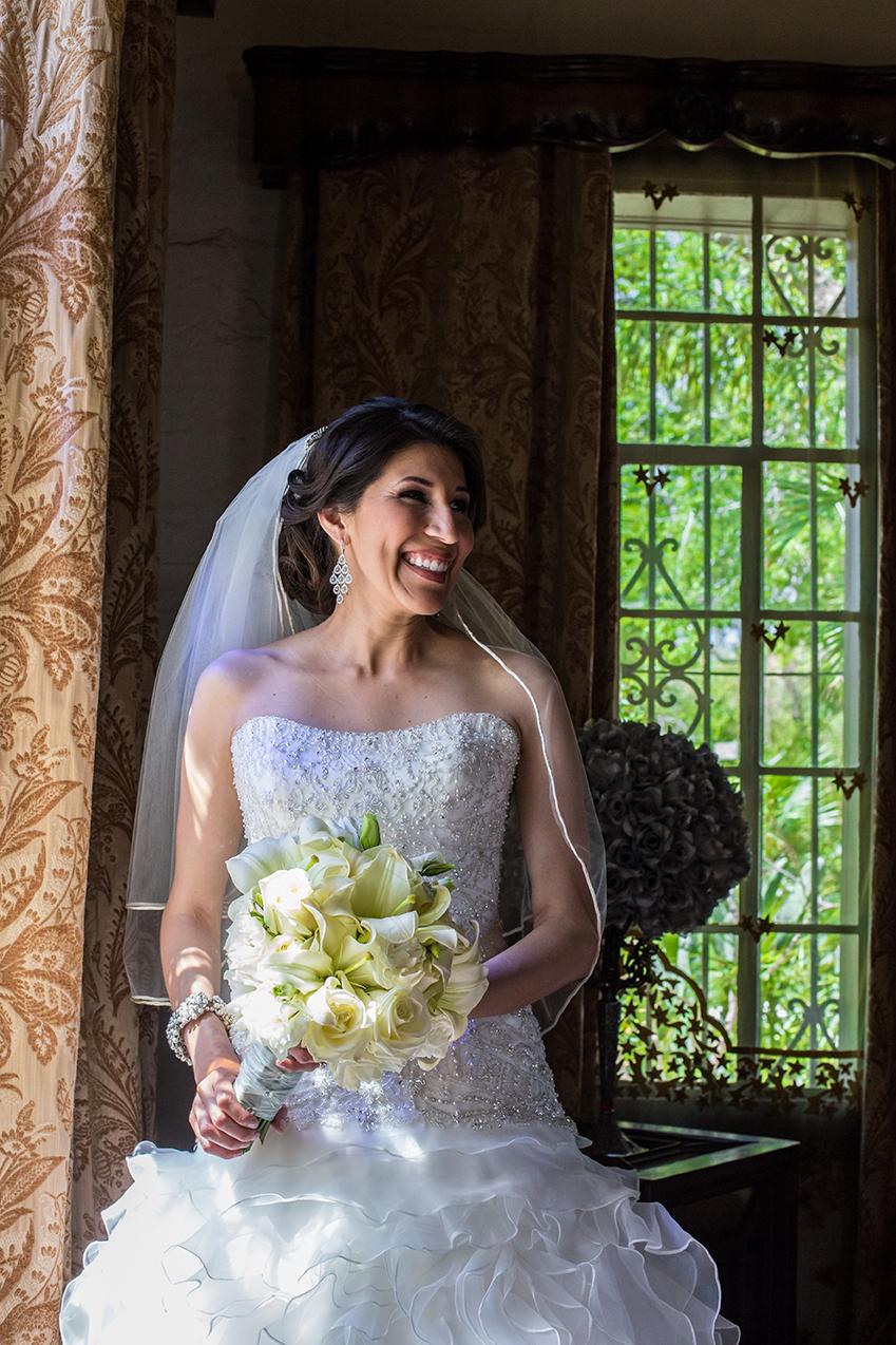 Bride at Quinta Mazatlan in McAllen, Texas.