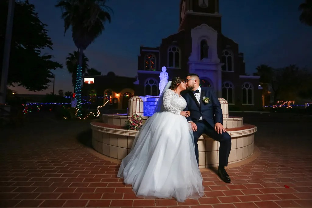 wedding day portrait at Our Lady of Guadalupe