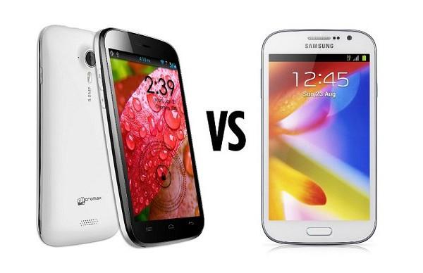 Samsung Galaxy Grand vs Micromax A116 Canvas HD | thetecnica
