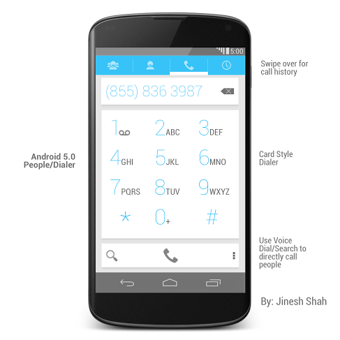 Android 5.0 Dialer