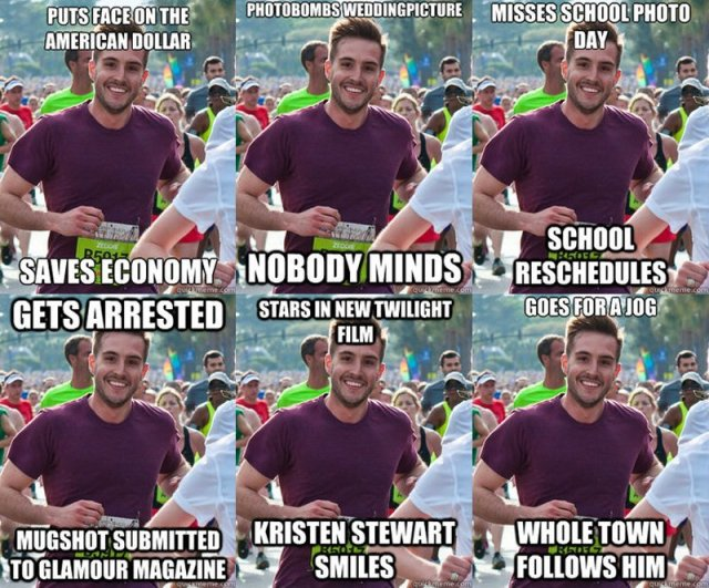 origin of ridiculously photogenic guy meme