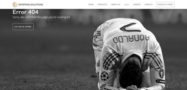 Sporting Solutions 404 page