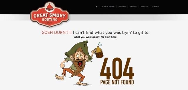 greatsmokyhosting 404 page