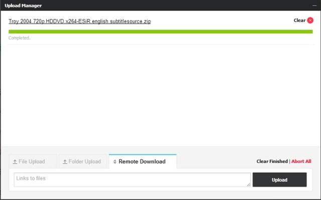 Upload Files Web-Interface
