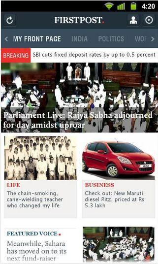 FirstPost Android Source Google Play