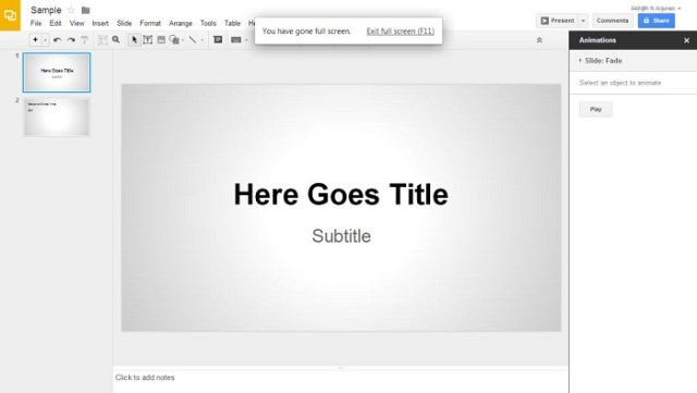 Google Drive Presentations - Alternatives to Microsoft Powerpoint