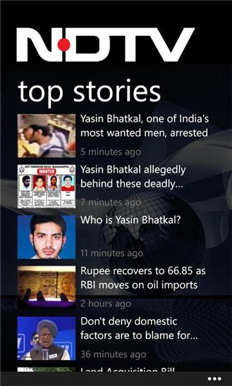 NDTV Source Windows Phone