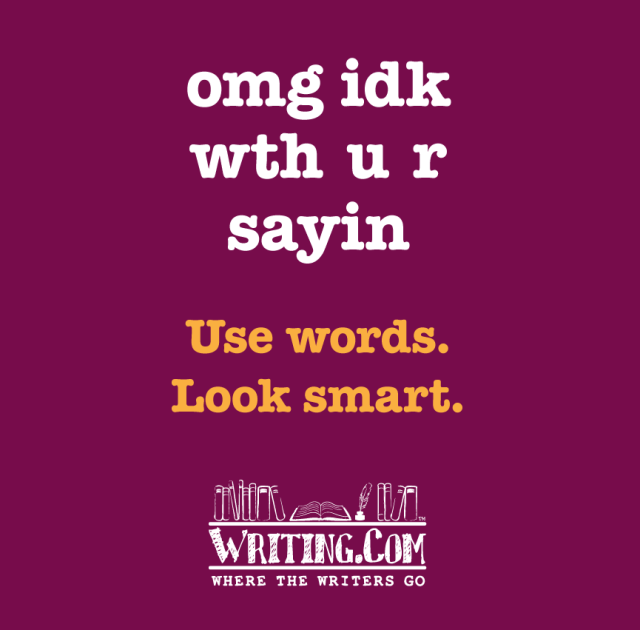 Use words, look smart!