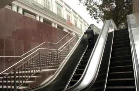 Delhi Metro Escalator