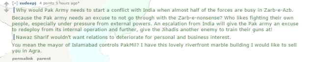 Opposite Information in India-Pakistan Newspaper