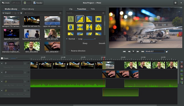 Pitivi video editing software