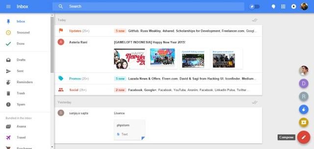 google-inbox for web material design