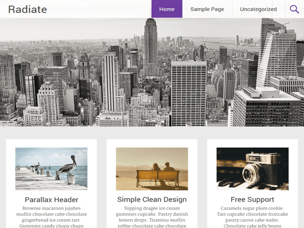 radiate-free-wordpress-theme