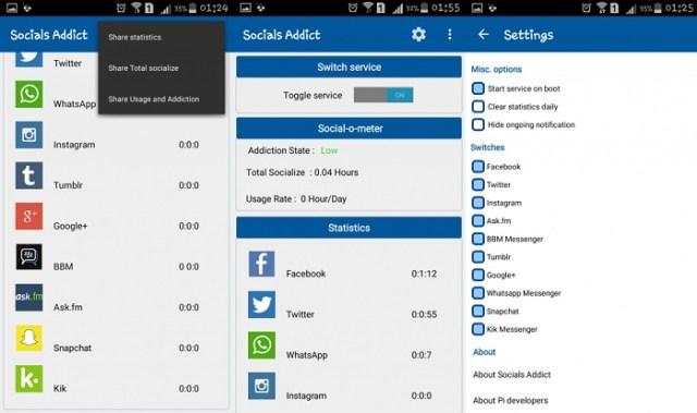 socials-addict material design app