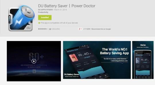 Ahorro de batería DU