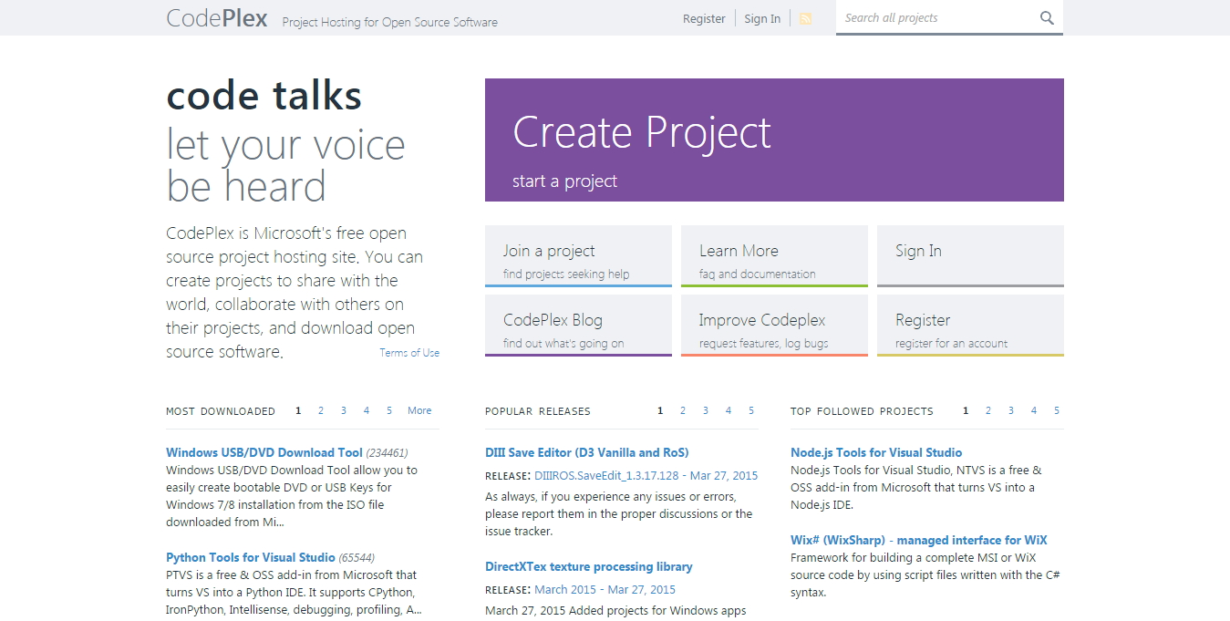 Programming crafting code never ending security codeplex is microsofts free open source code hosting service it lets you create projects each of which get a domain customnamedeplex fandeluxe Choice Image
