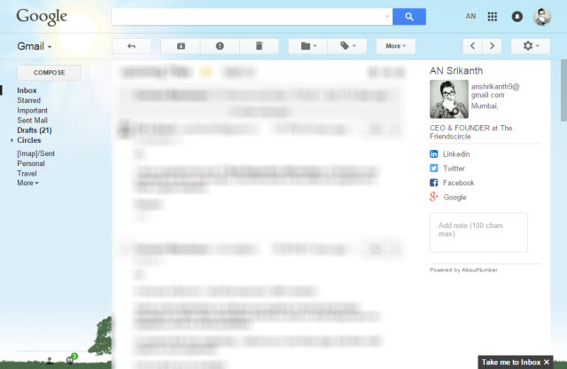 AboutNumber for Gmail