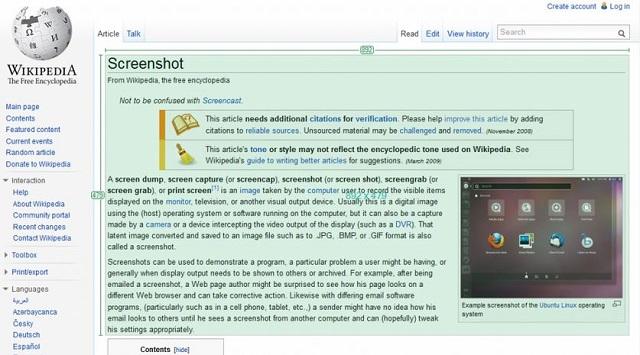 Greenshot screen capture tool