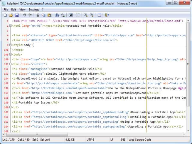 Notepad2-modPortable