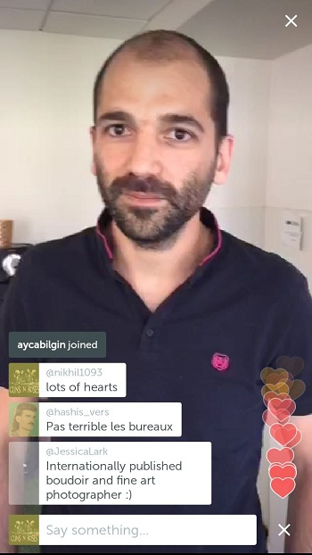 Periscope commenting