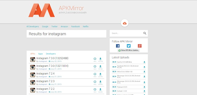 APKMirror Search Results
