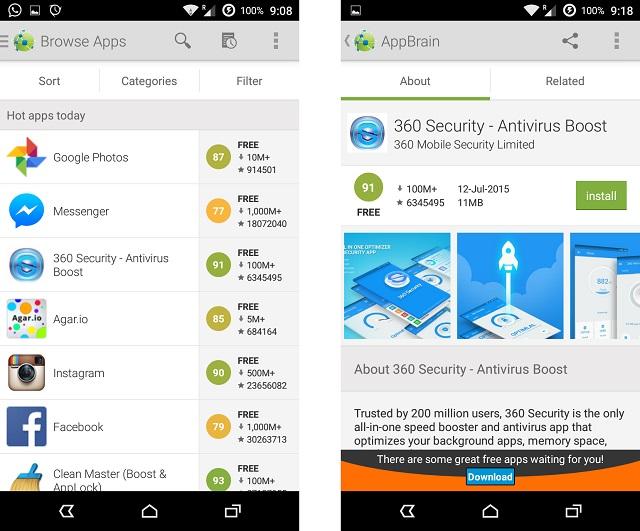 Скачать приложение из AppBrain Store