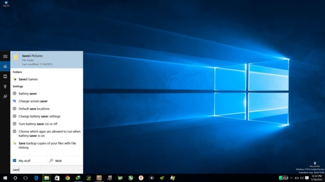 Microsoft Cortana in Windows 10
