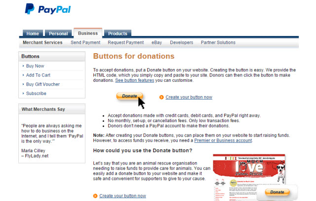 PayPal Donation Buttons