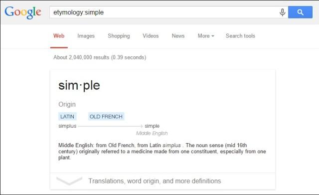 Find Origins of Word